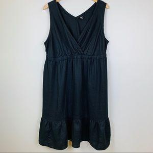 Mossimo 100% Linen Dress w/ Ruffle Bottom, 22W